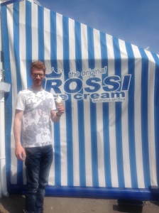 Mr. C finally gets to try Rossi's ice cream.