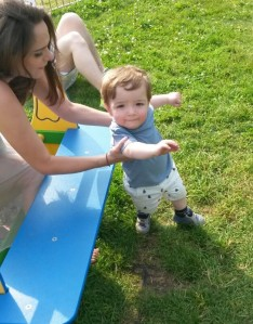 Mummy and Oliver at the park