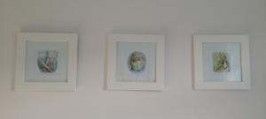 Peter Rabbit, Mrs. Tiggywinkle and Benjamin Bunny Beatrix Potter prints.