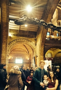Family day trip to the Natural History Museum in London.