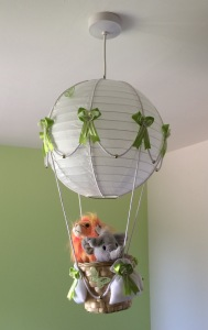 Safari / Jungle themed hot air balloon light shade.