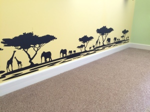 Safari themed black silhouette wall stickers.