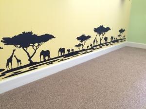 Safari themed black silhouette wall stickers.