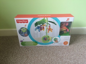 Fisher - Price rainforest mobile.