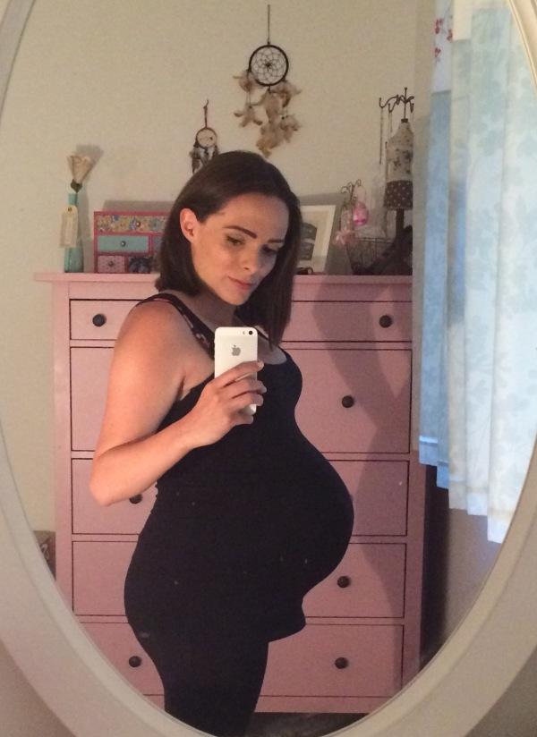 My pregnancy bump - Week 30.