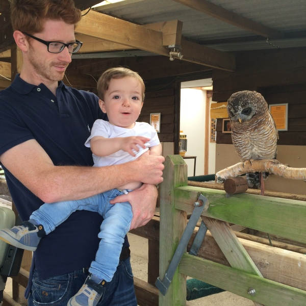 Daddy and Oliver learning all about Owls.