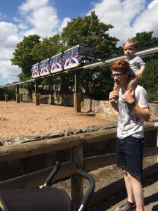 Daddy and Oliver at Chester Zoo.