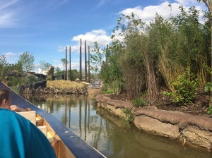 Chester zoo's islands lazy river boat trip.