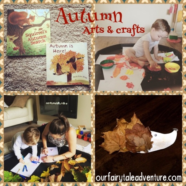 Autumn toddler arts and crafts.