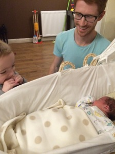 Welcoming Elijah home.