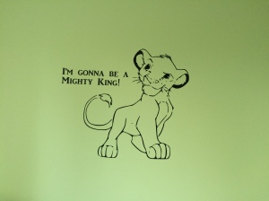 Simba - Lion King nursery wall sticker.
