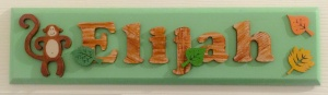 Name sign by Little Kids Treasures.