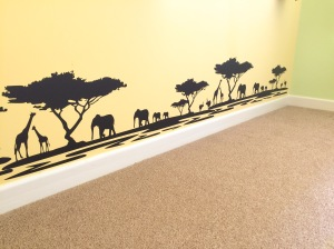 Safari / Lion King themed nursery