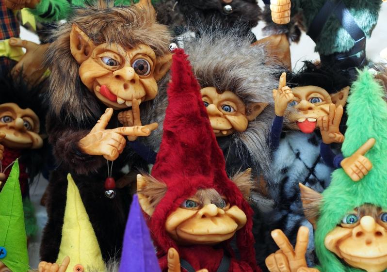 Here comes the trolls - Internet trolls