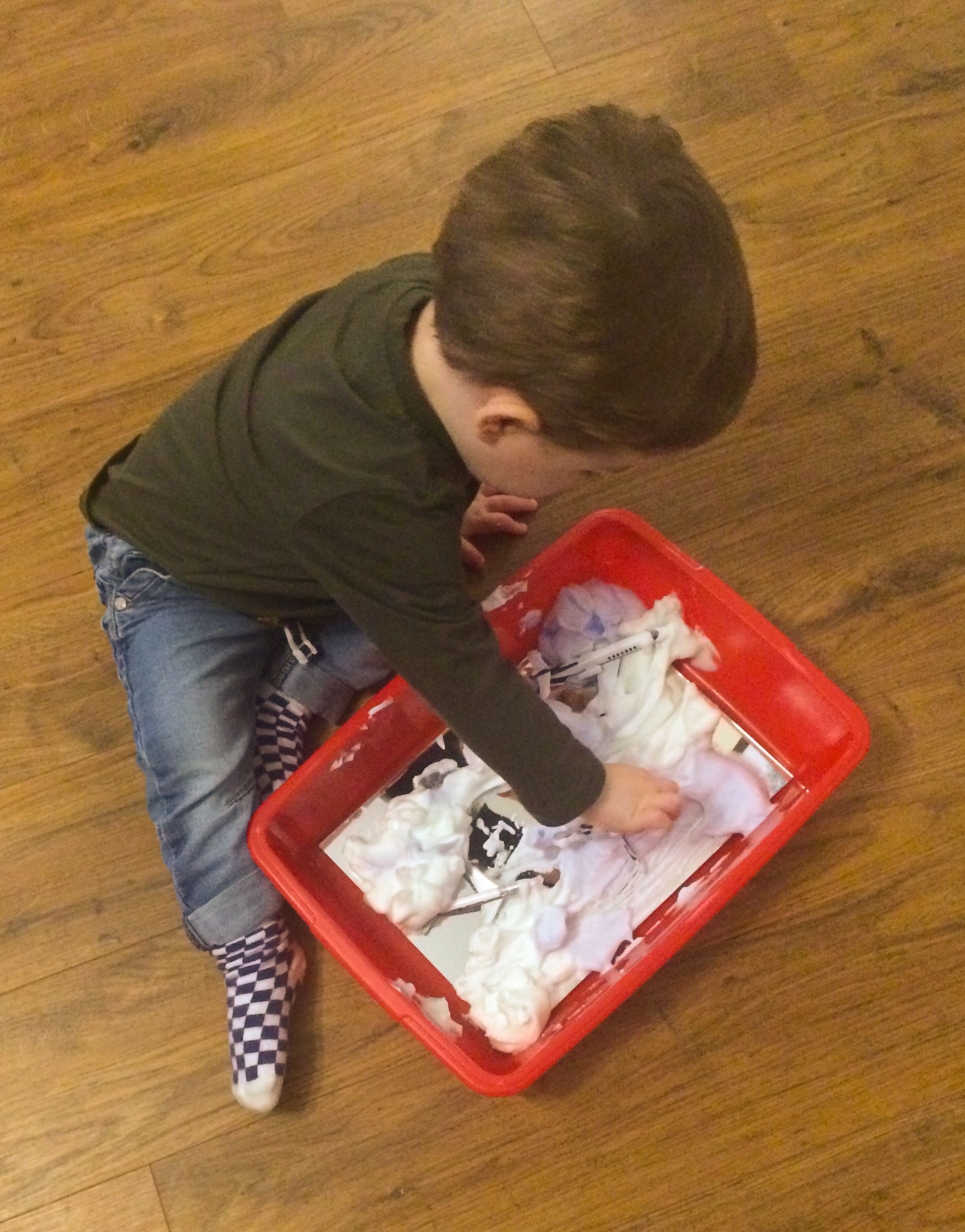 aircraft shaving foam sensory activity