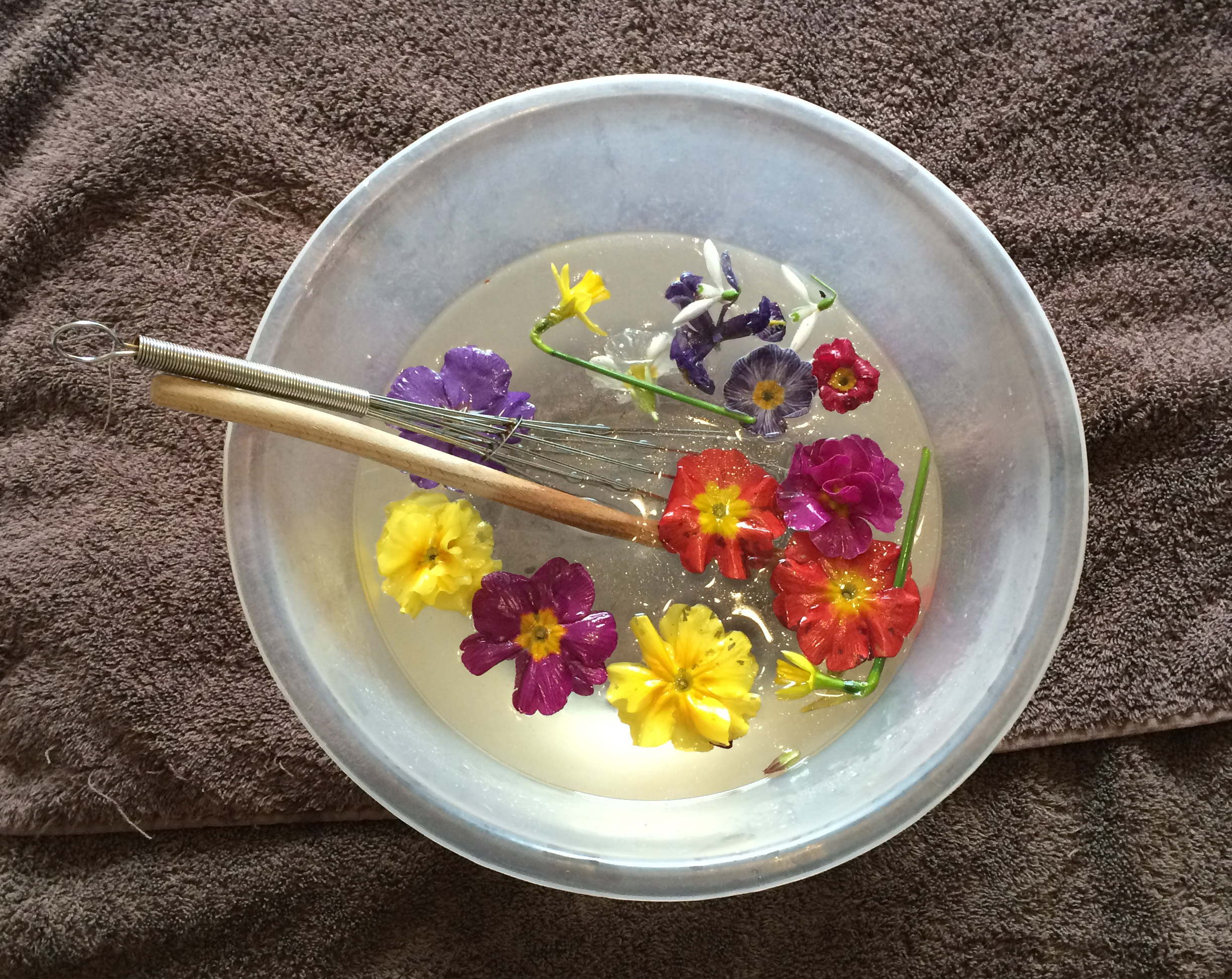 Easy spring soup sensory activity