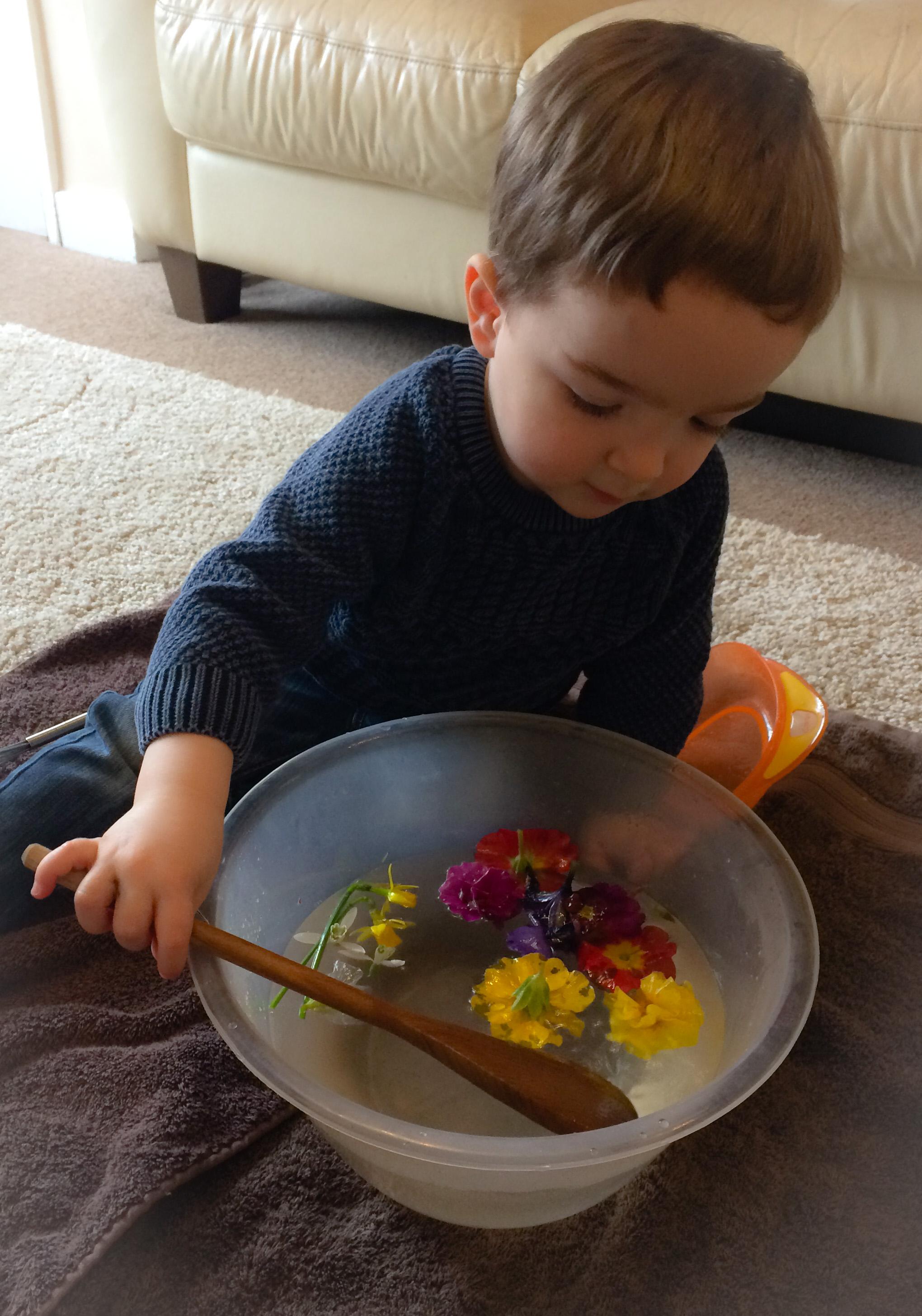 Spring soup, sensory activity