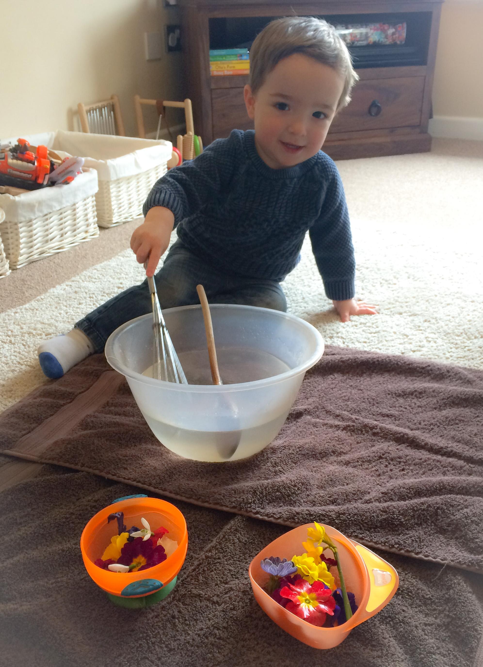 Spring soup sensory activity