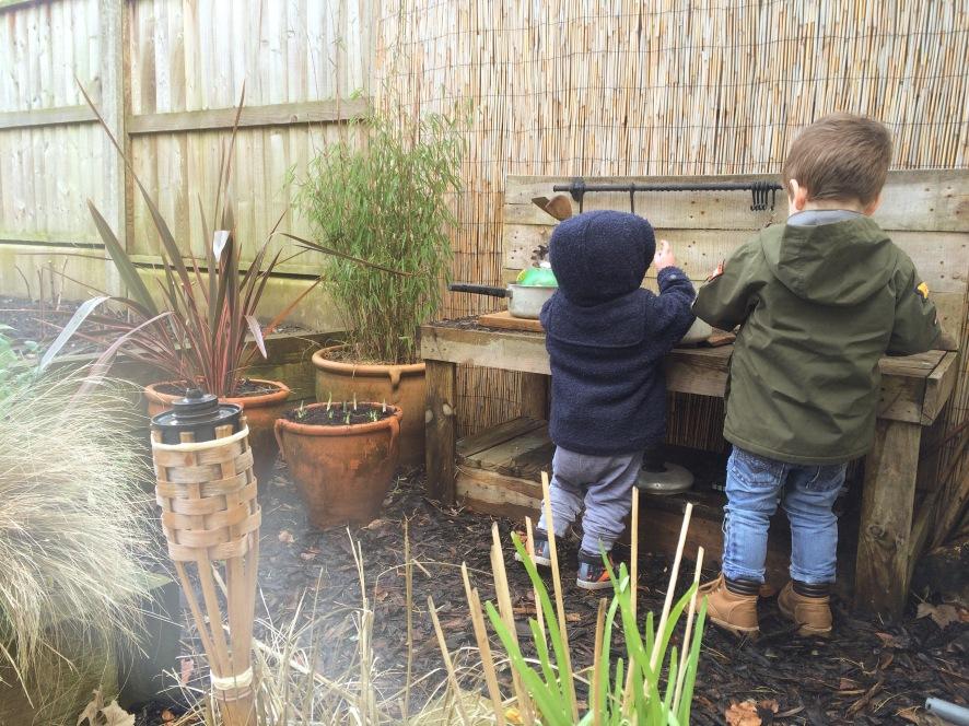 Jungle themed sensory garden for children