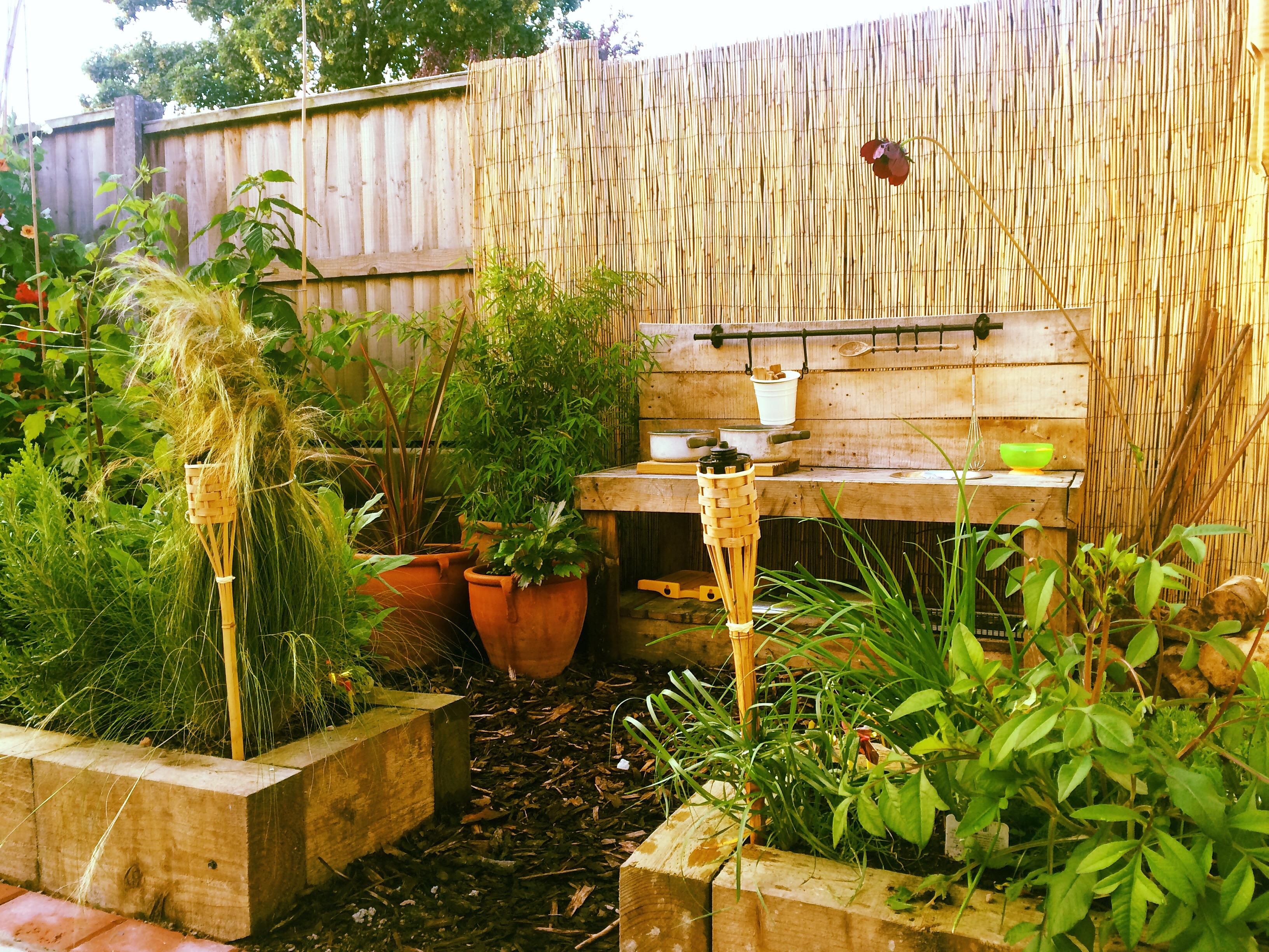 Jungle themed sensory garden