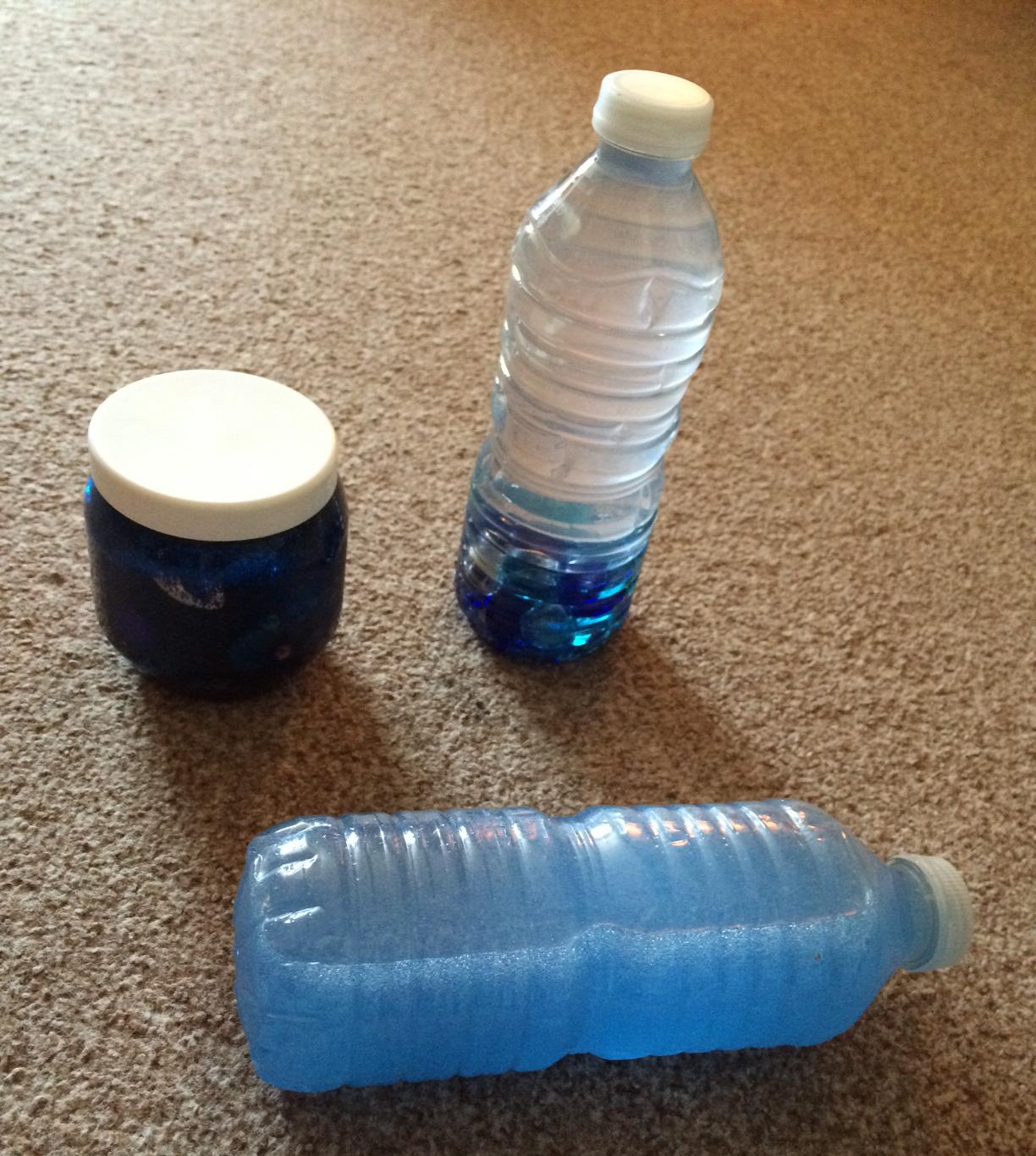 Aquarium themed sensory bottles