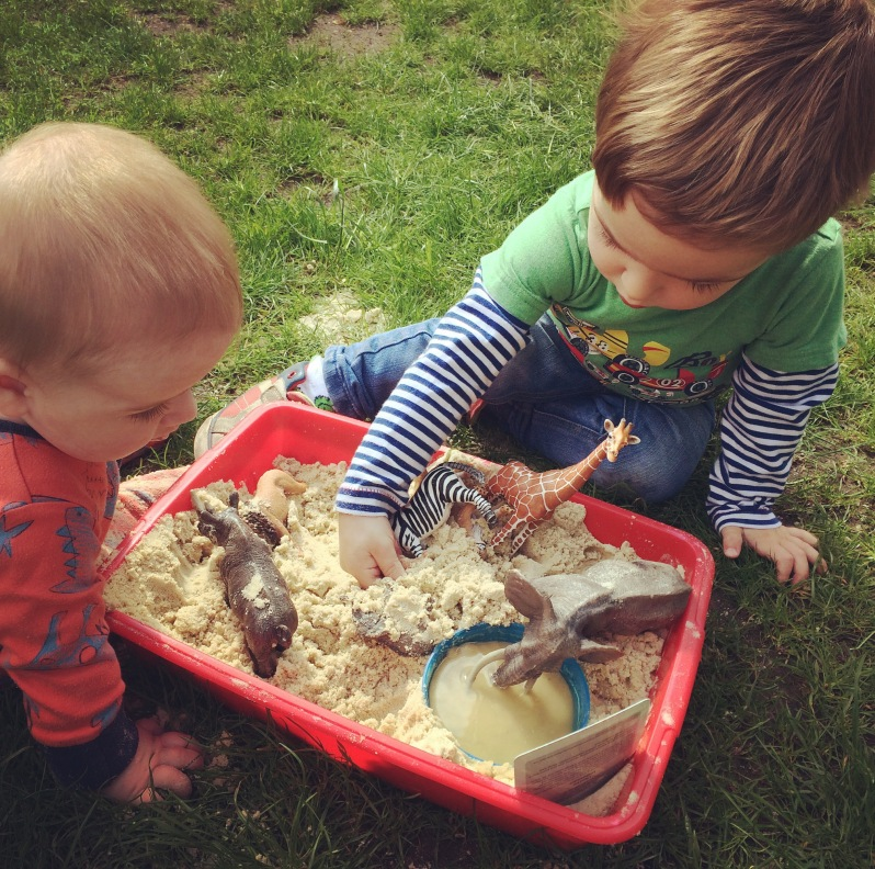 Safari world sensory play