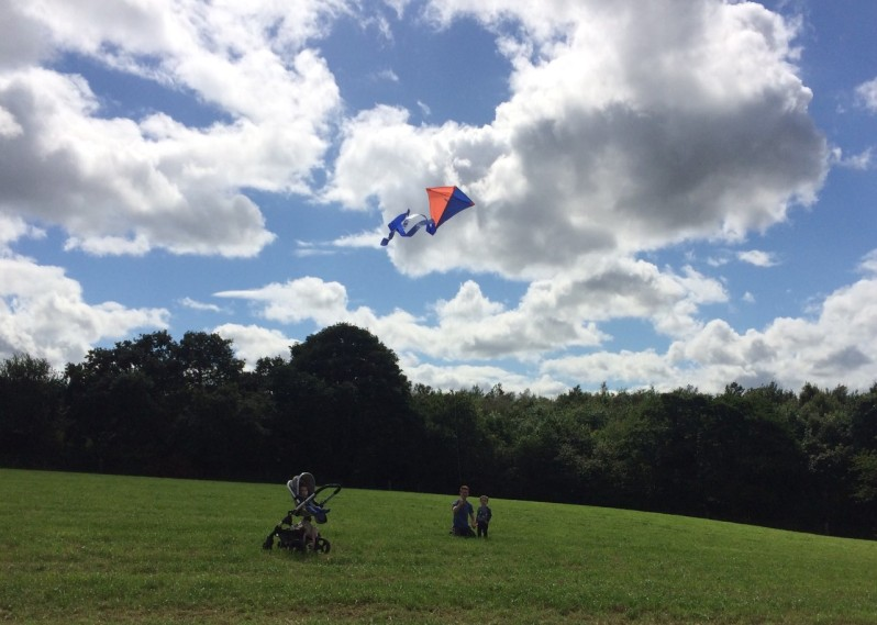 Oliver's first time flying a kite
