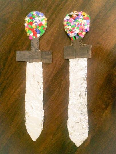 Crafty homemade swords