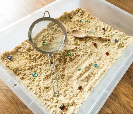 Digging for the kings treasure sensory play