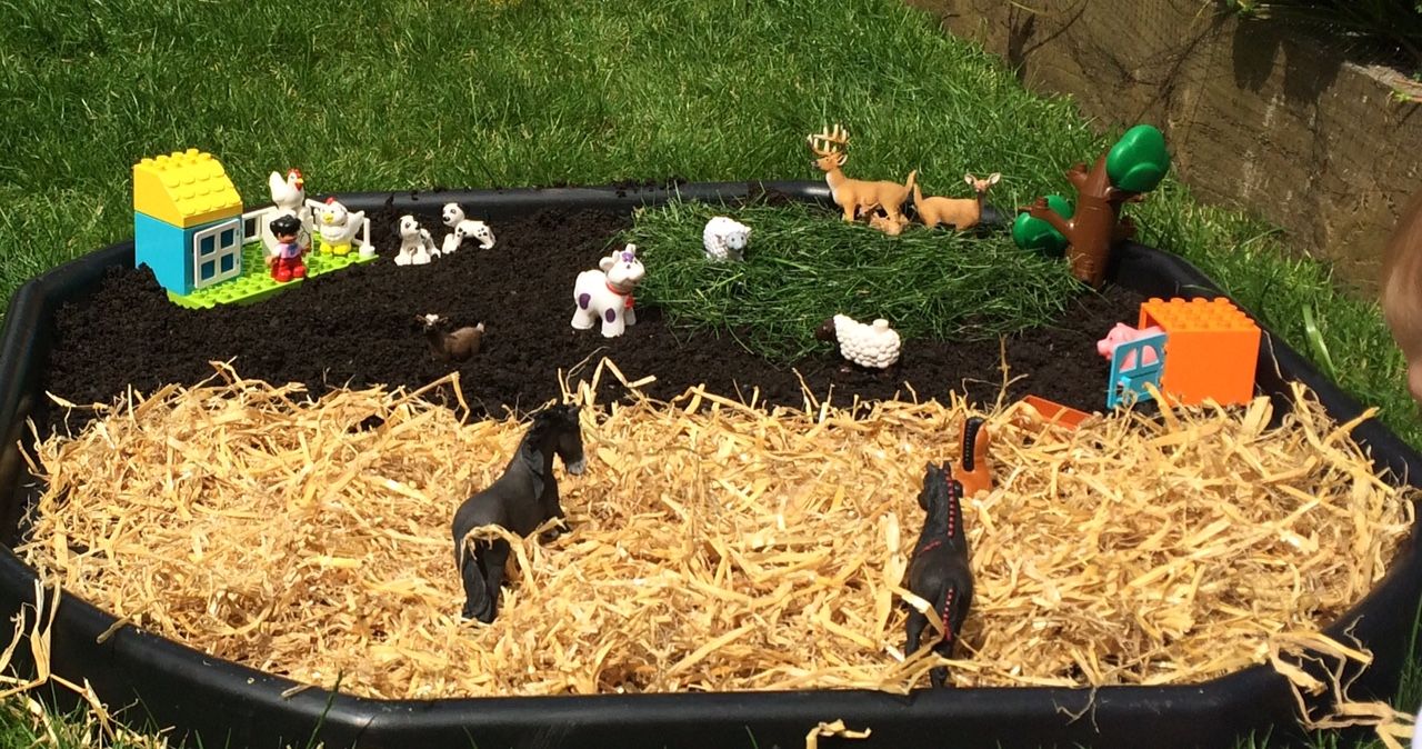 Farmyard fun small world play
