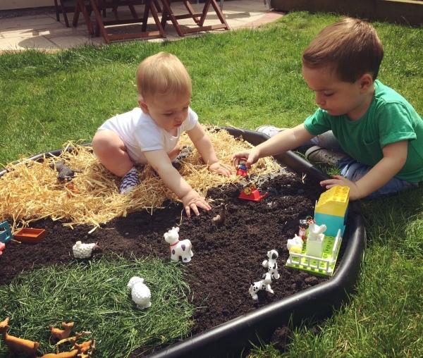 Farmyard fun small world play