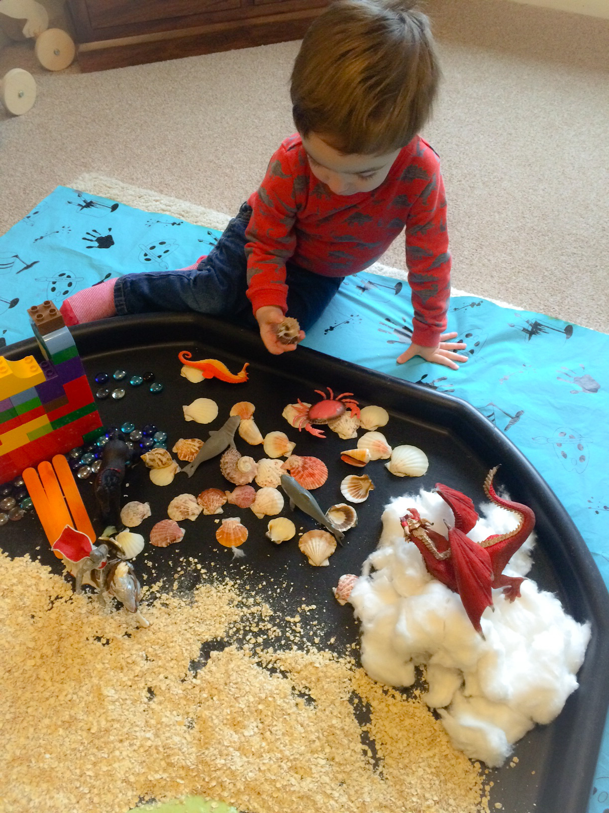 Castles small world sensory play