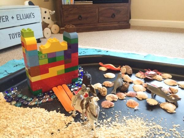 Castles small world sensory play