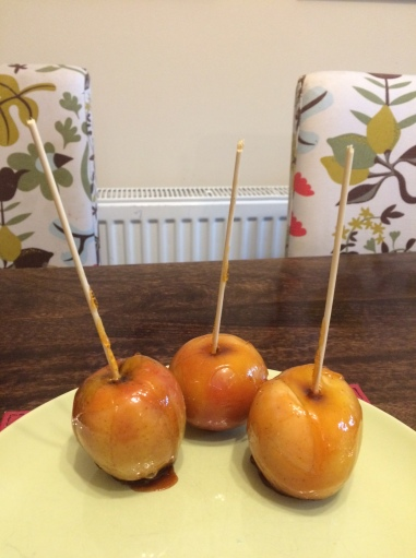 Castle themed medieval feast - toffee apples